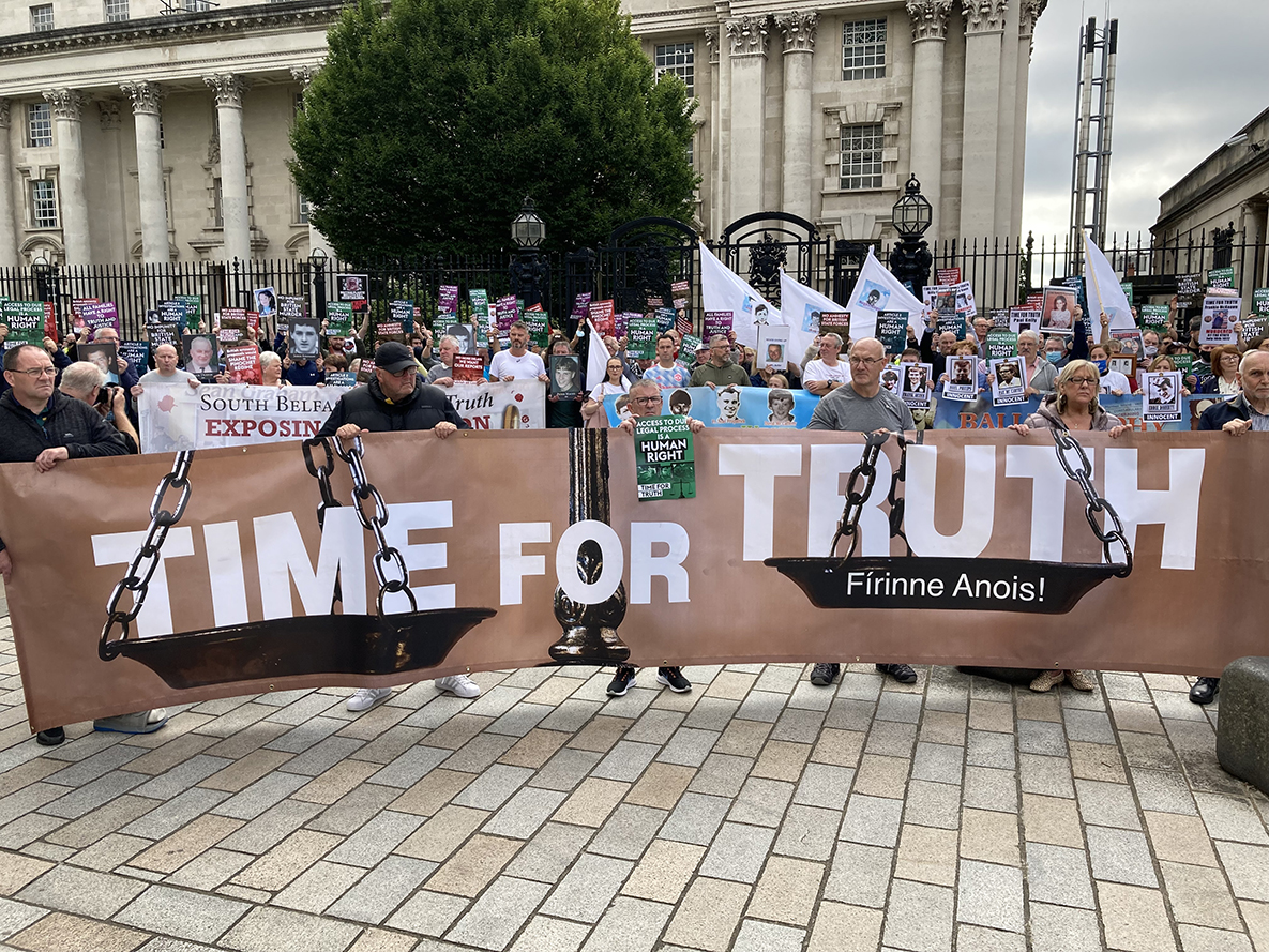 Protesters across Ireland refuse to accept British government's attempts to bury truth