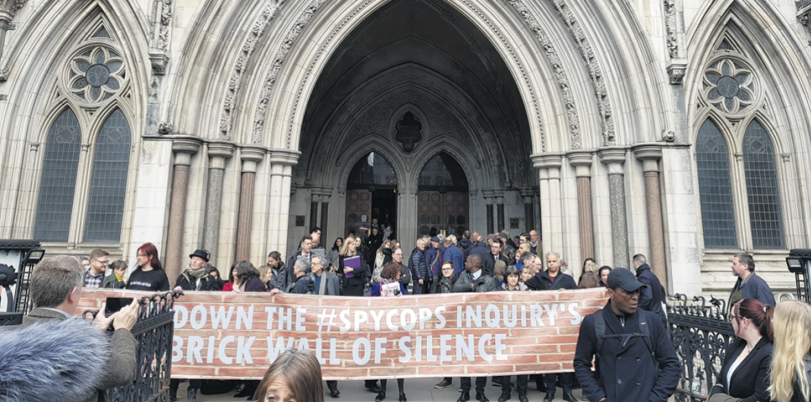 London protest against police spying