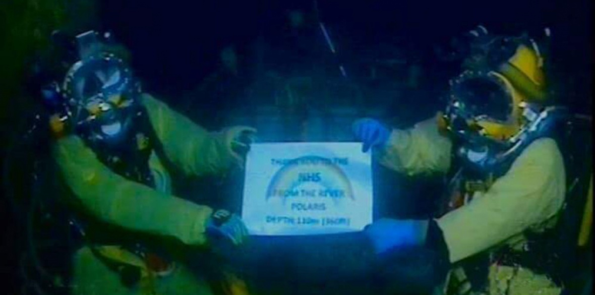British divers thank NHS