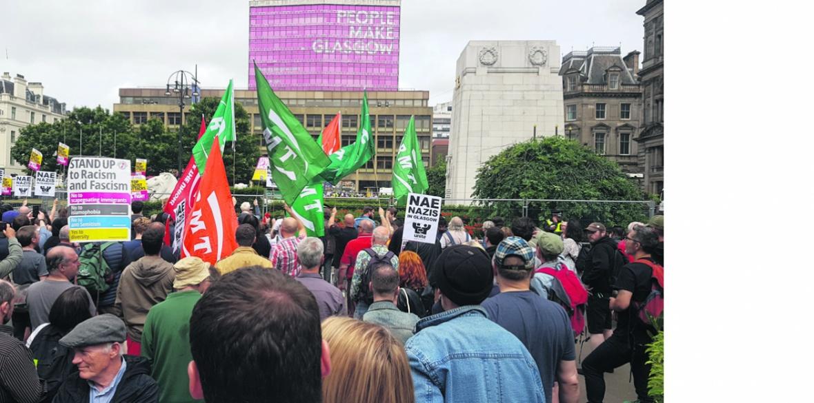 Glasgow anti-fascist demonstration