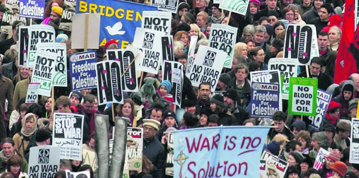 London marchers against the Iraq war in 2003