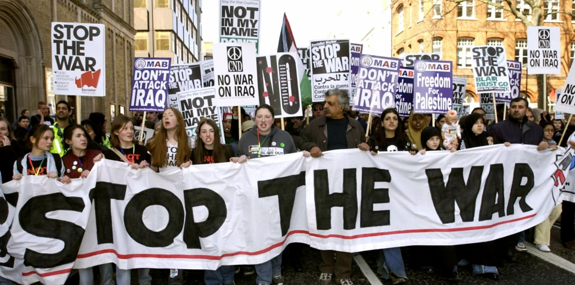 London anti-Iraq war demonstrators, 2003