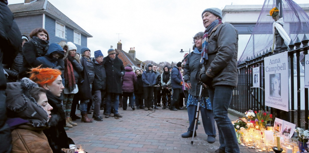 1a130b3649 Dirk Campbell, father of Anna, speaks at a vigil in her home town of Lewes,  East Sussex
