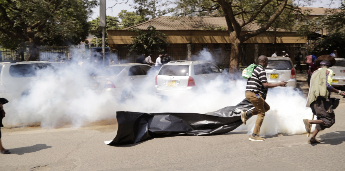 Kenyan protesters tear-gassed during demonstrations against power