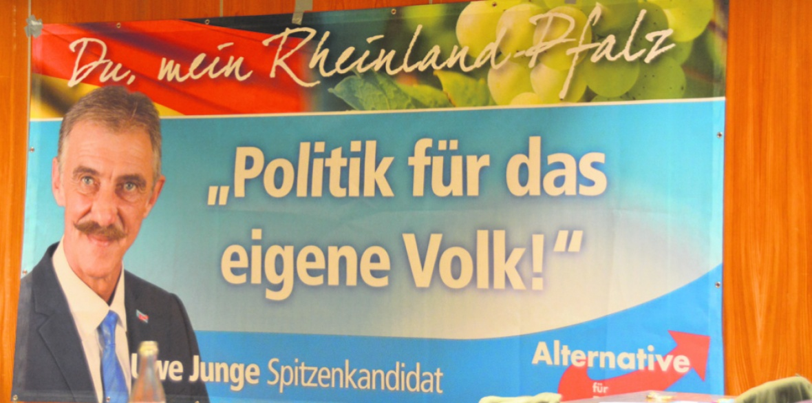 An AfD election poster in Rheinland-Pfalz state. Photo: Freie Presse