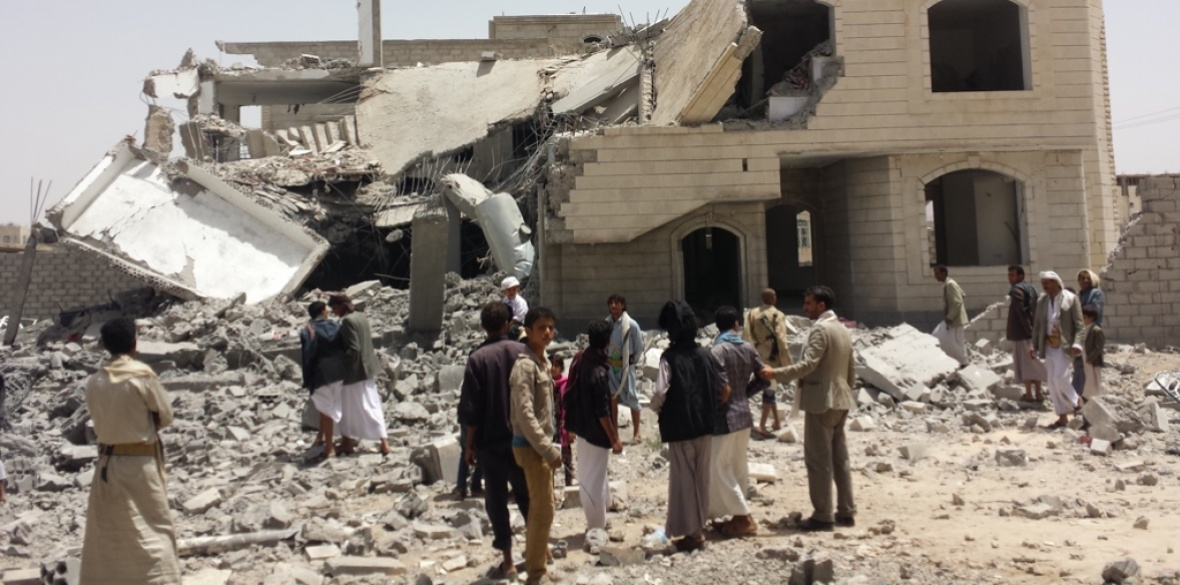 A house in Sanaa, capital of Yemen, destroyed by Saudi bombs. Photo: Mr Ibrahem/Creative Commons