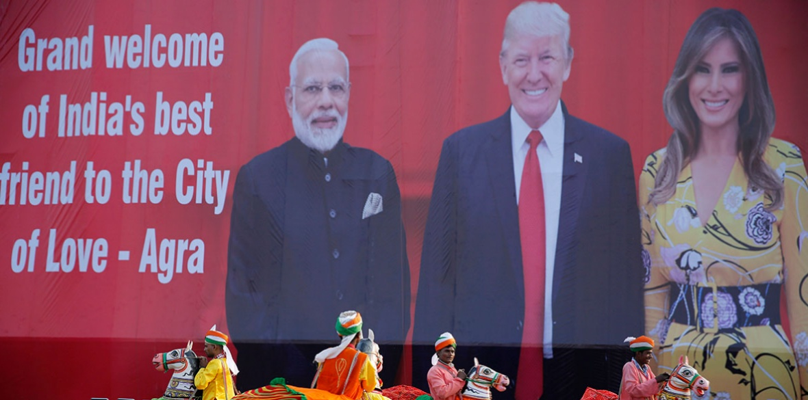 Donald Trump visit billboard in Agra, India