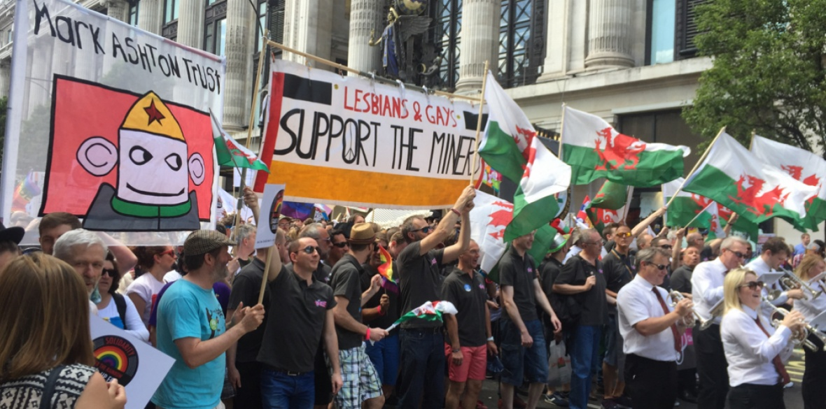 British Lesbians & Gays Support the Miners at London Pride 2015. Photo: David Jones/Creative Commons
