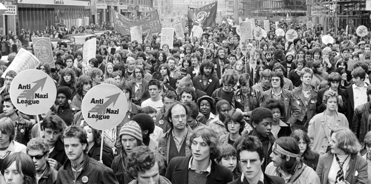 Thousands march through London as part of the Anti-Nazi League in 1978
