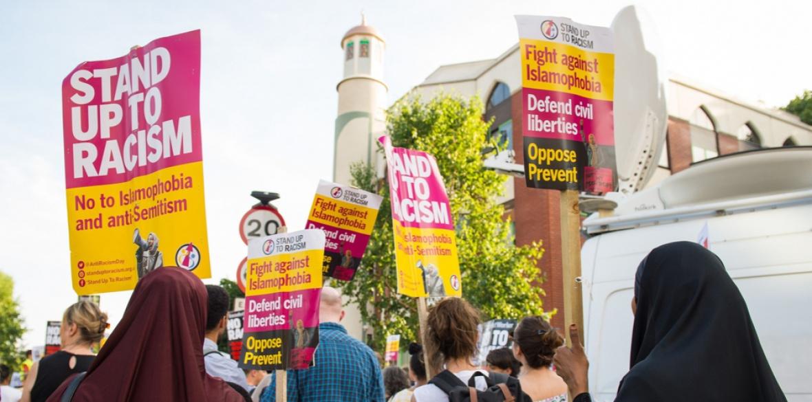 British anti-racist demonstration