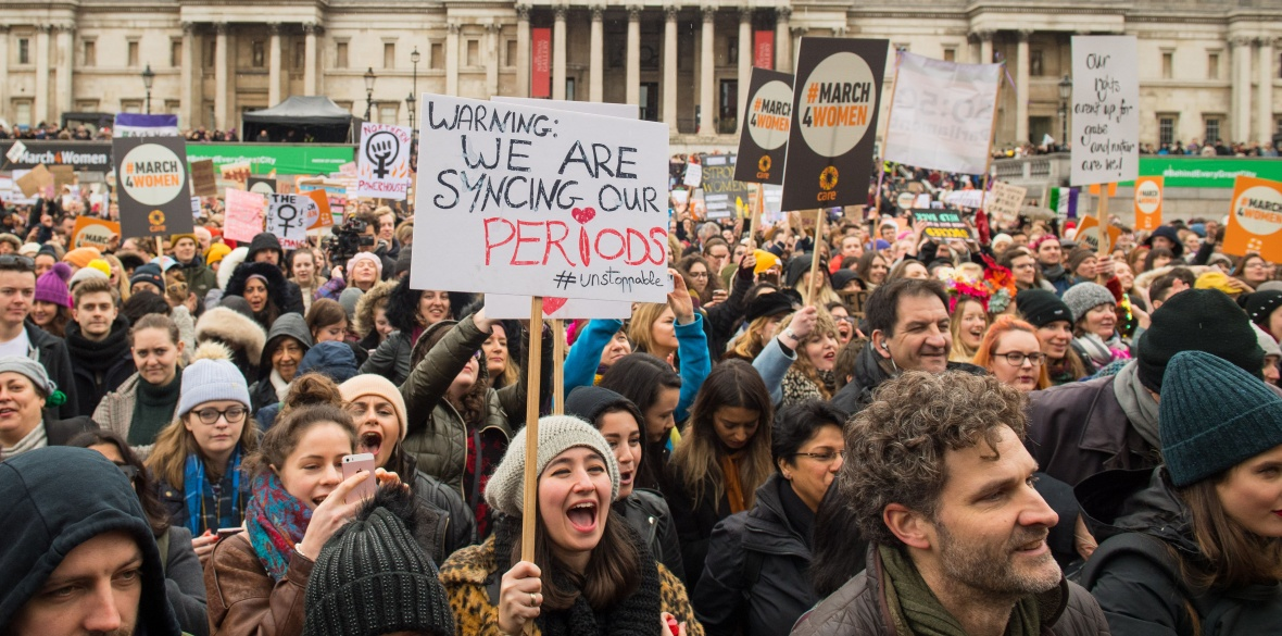 Women march for equality in London