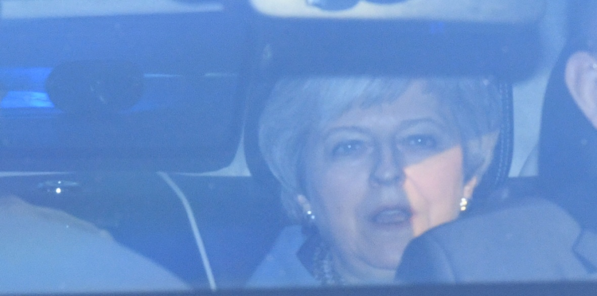 Prime Minister Theresa May leaving the Houses of Parliament, Westminster, London, ahead of the latest round of debates in the House of Commons concerning Brexit issues