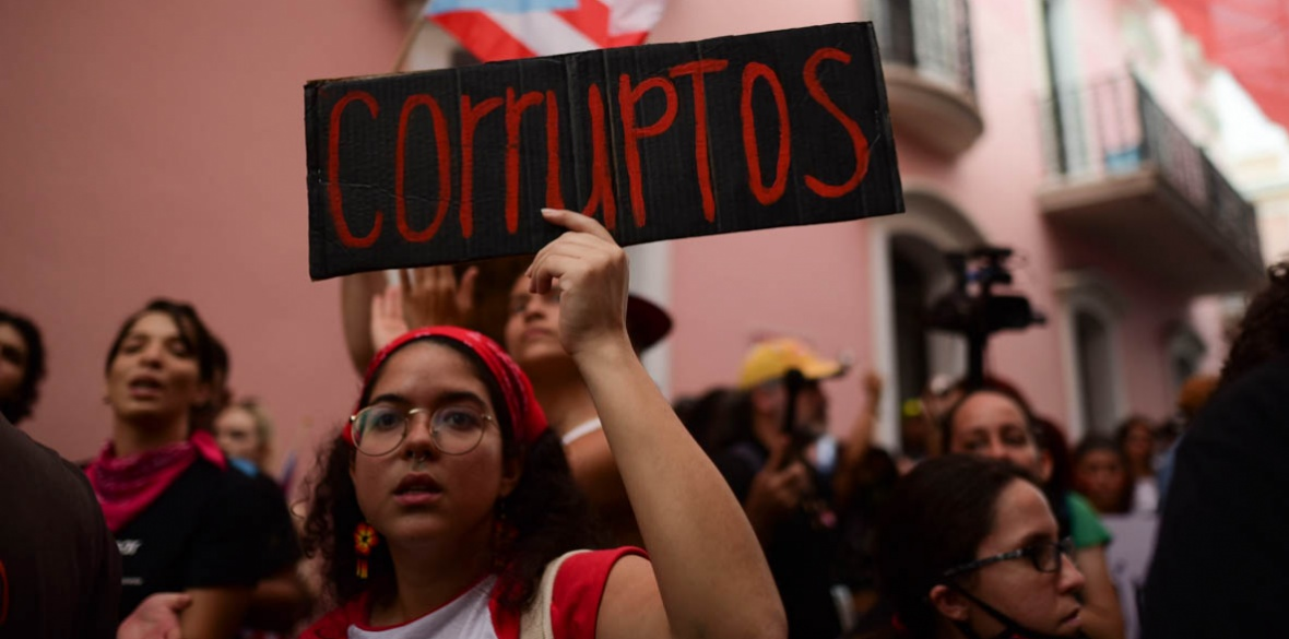 Puerto Rican demonstrators