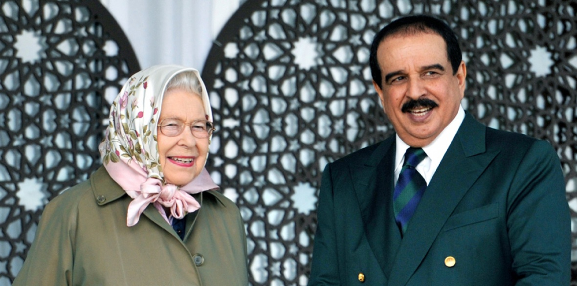 Best buds: Queen Elizabeth II and the King of Bahrain Hamad bin Isa Al Khalifa during the Royal Windsor Horse Show