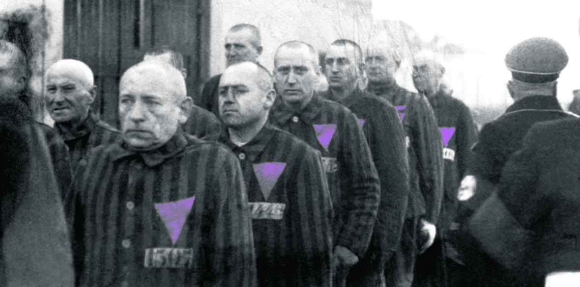 Gay concentration camp prisoners in Sachsenhausen, Germany, pictured in 1938