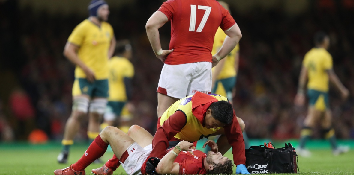a70a900d0ee Men's Rugby Union Concussion suffered against Australia could rule out  Leigh Halfpenny for the start of