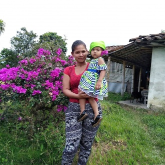 Rosa Mendoza and her daughter