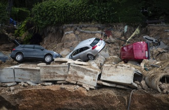 Damage caused by flooding in Germany