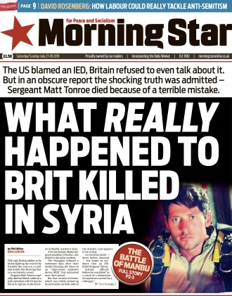 The Star broke the story of how Sgt Matt Tonroe died in Syria because of a terrible mistake
