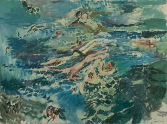 Jeffrey Camp, Swimming, 1959