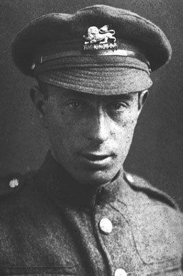 Isaac Rosenberg in his military uniform