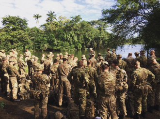 British Marines during a training session in Belize