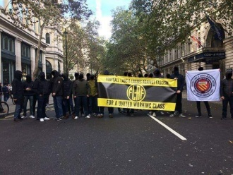 The Football Lads and Lasses Against Fascism in London last weekend