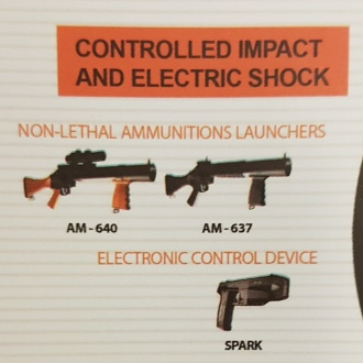 "A Condor catalogue collected at DSEI 2019 by Morning Star, showing the ""Spark"" stun gun"