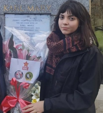 Ligia Fernandes, international secretary of Brazil's Young Communist Union (UJC)