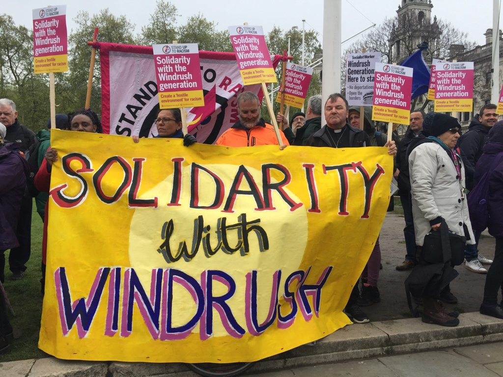 London demonstrators against governmental deportations
