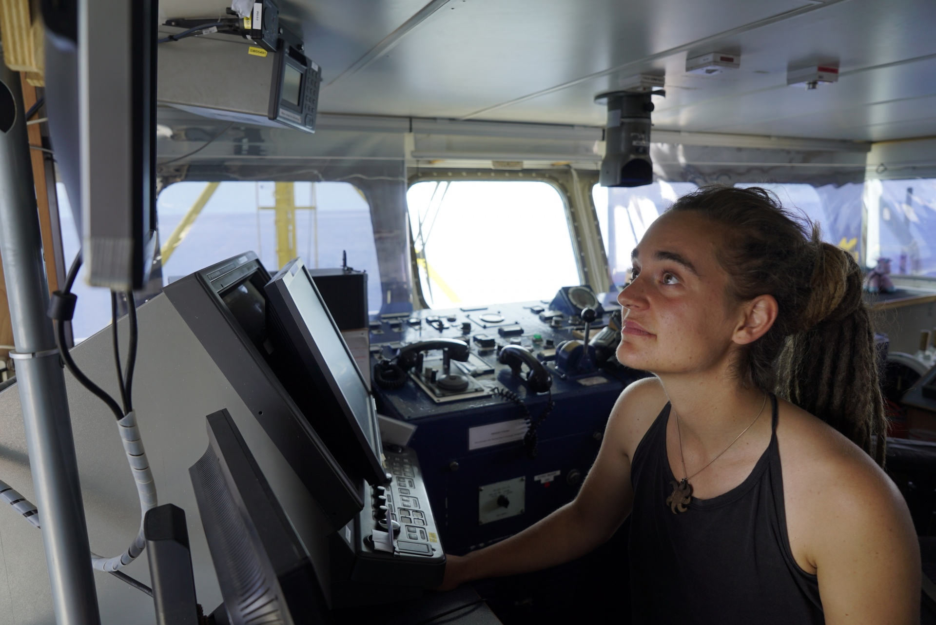 Carola Rackete on board the Sea Watch 3 (Pic: Till Egen / Sea Watch)