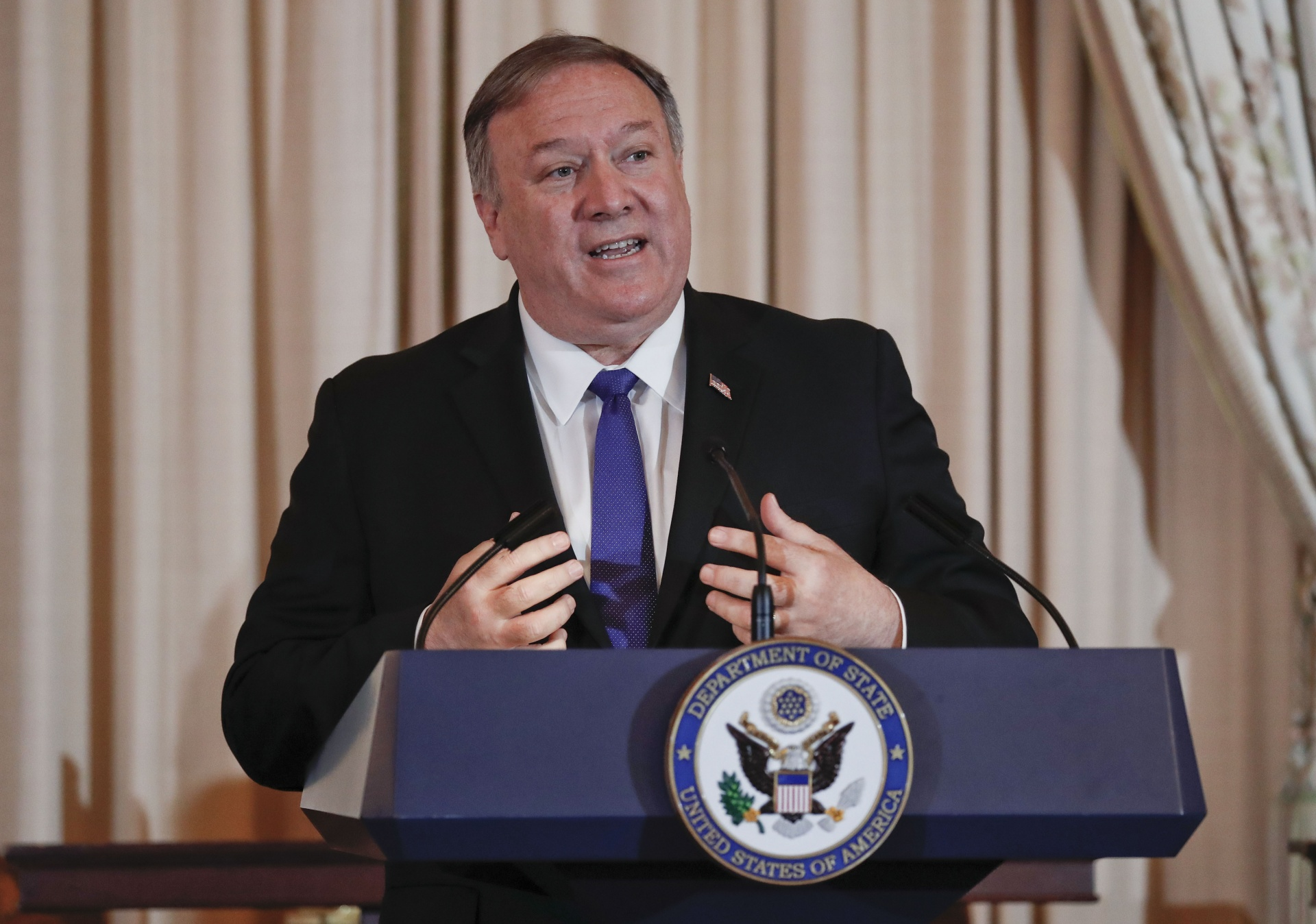 US secretary of state and former CIA director Mike Pompeo