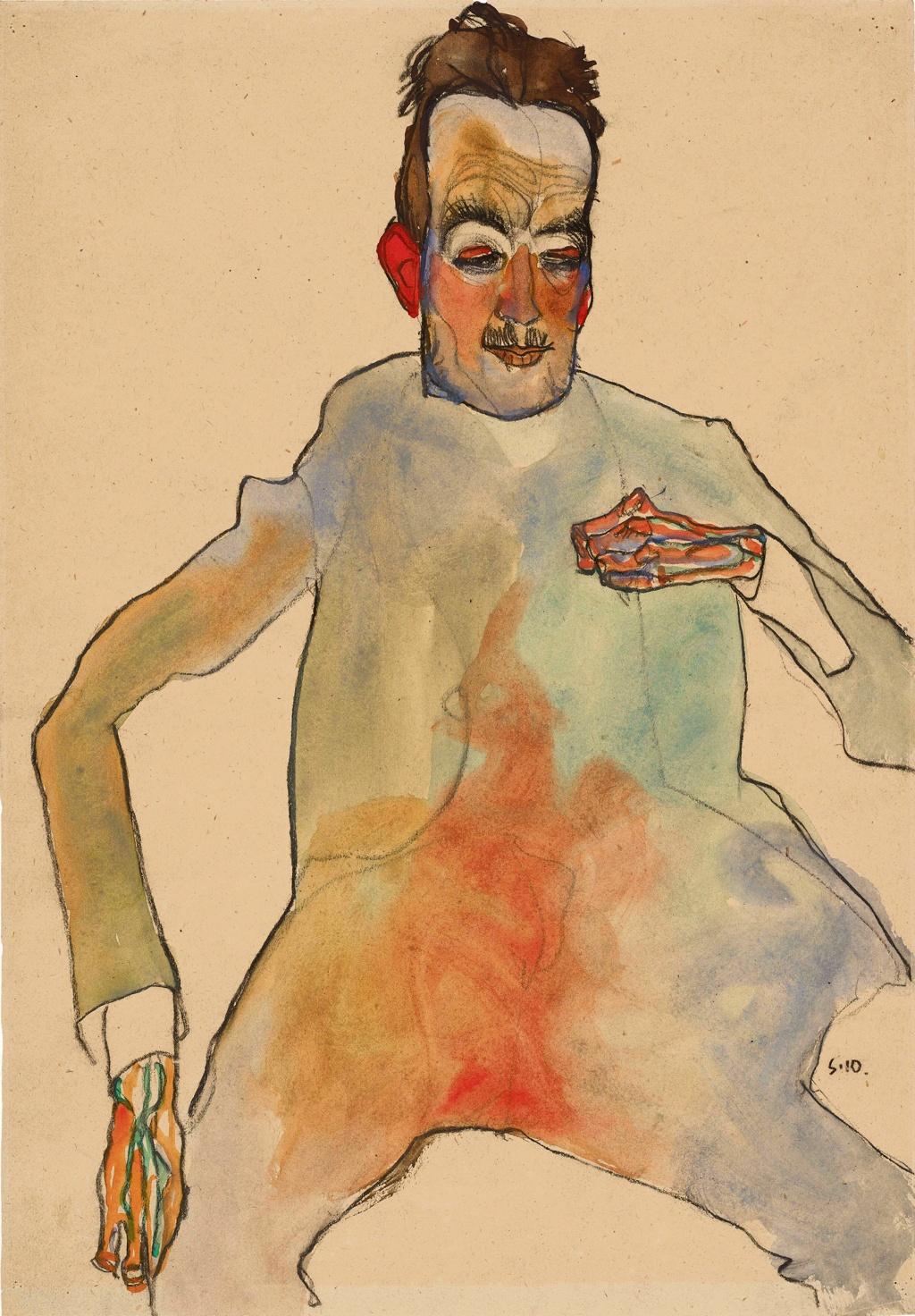 Egon Schiele, The Cellist, 1910