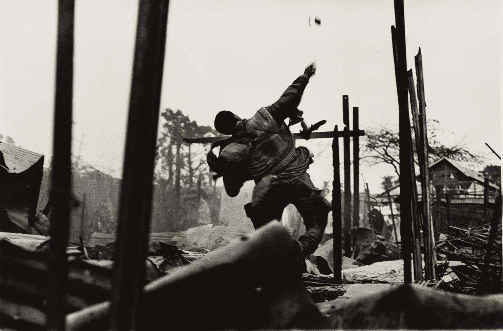 Grenade Thrower, Hue, Vietnam, 1968
