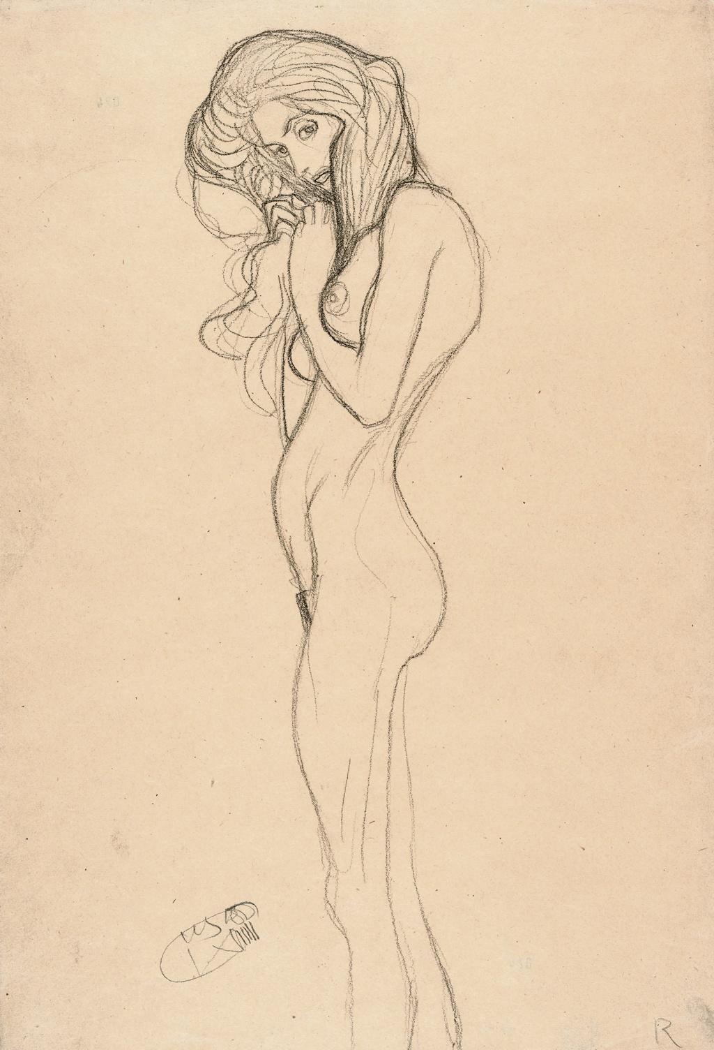 Gustav Klimt, Standing Female Nude, 1901
