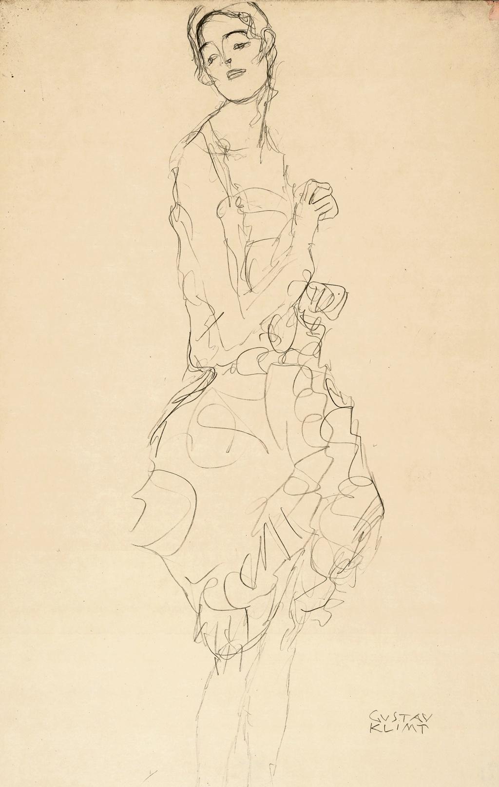 Gustav Klimt, Study for The Dancer, 1916-17