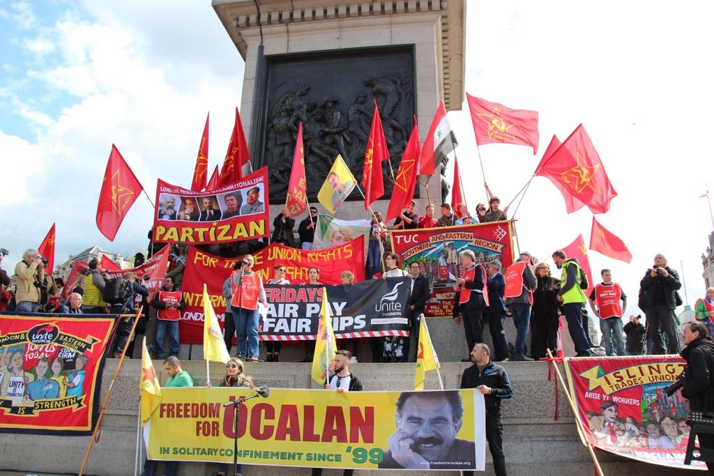London 2018 May Day demonstrators