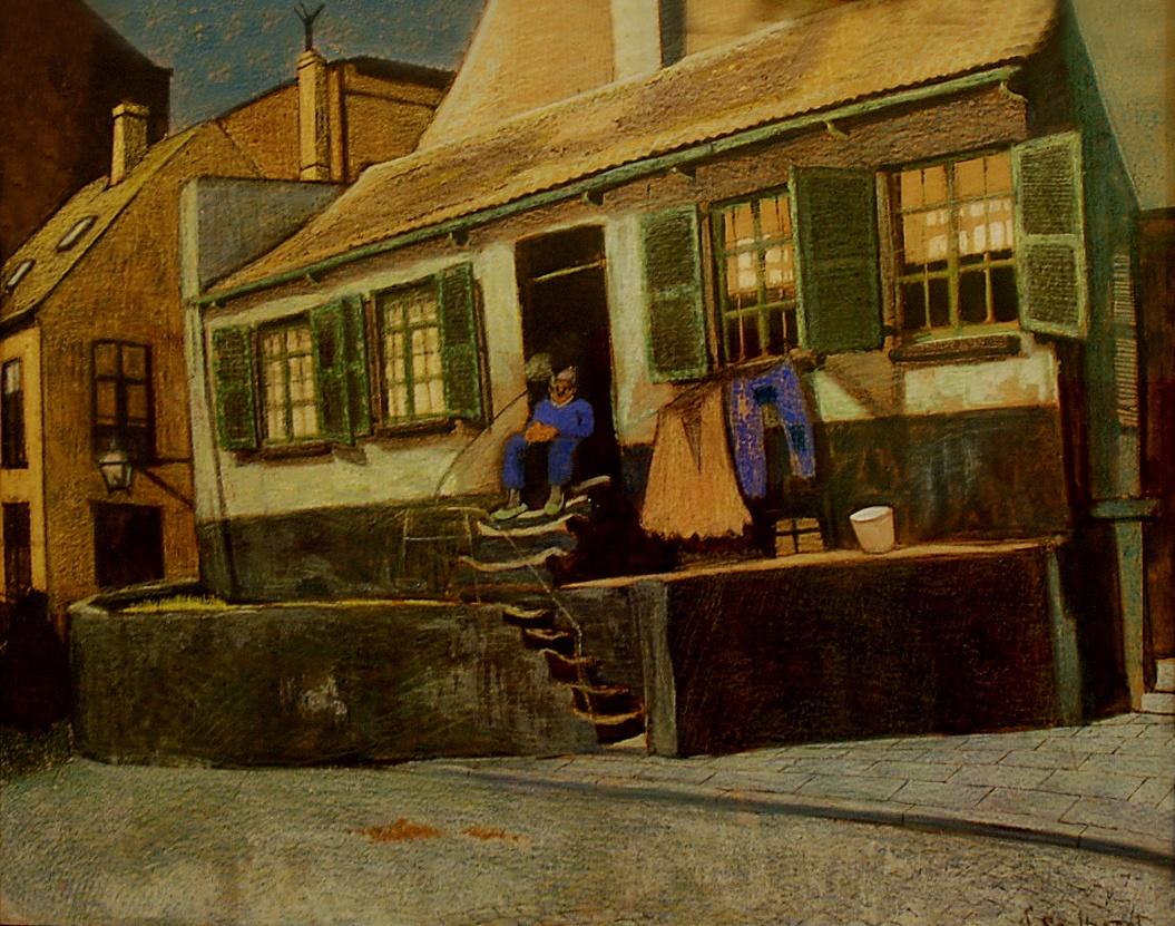 Léon Spilliaert, Odstend House, 1913