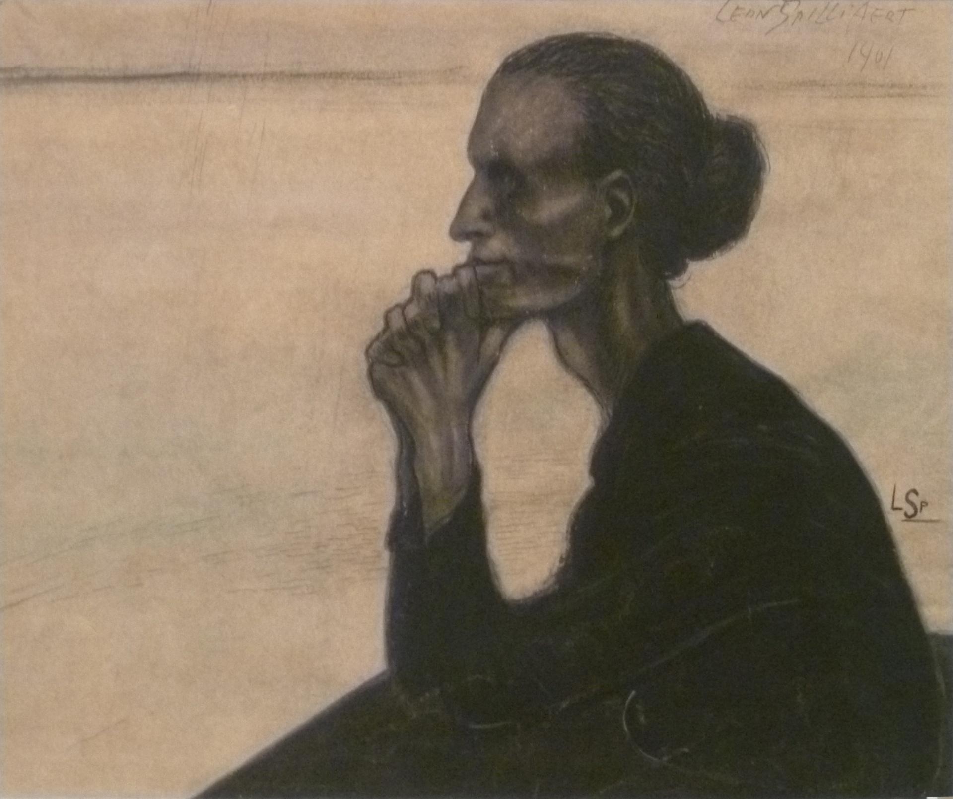 Léon Spilliaert, Pensive fisherwoman, 1901
