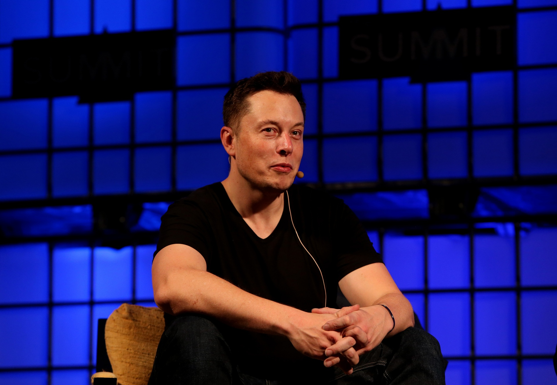 Looney billionaire Elon Musk at the Dublin web summit in October