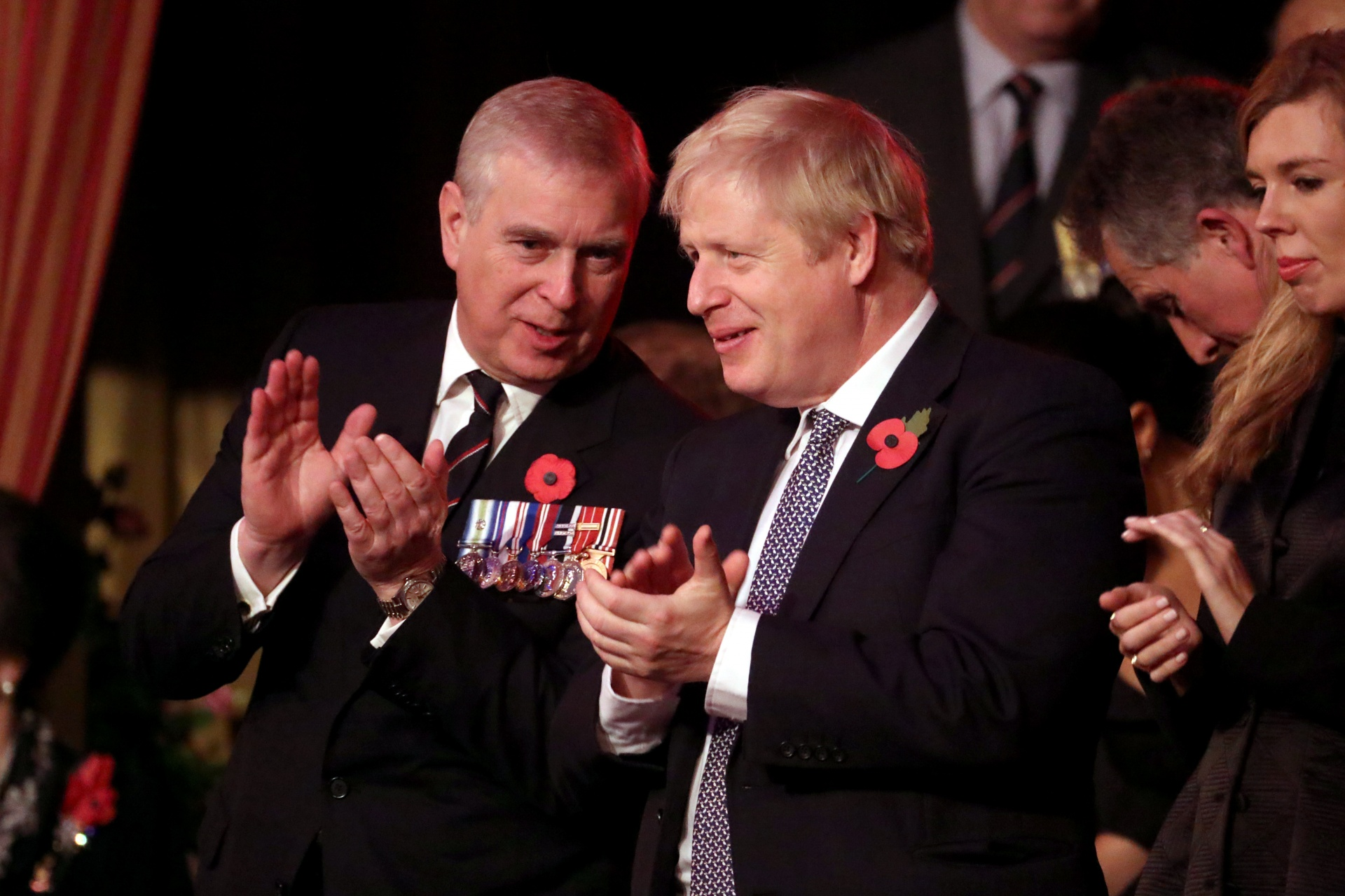 British Prince Andrew and Conservative Prime Minister Boris Johnson