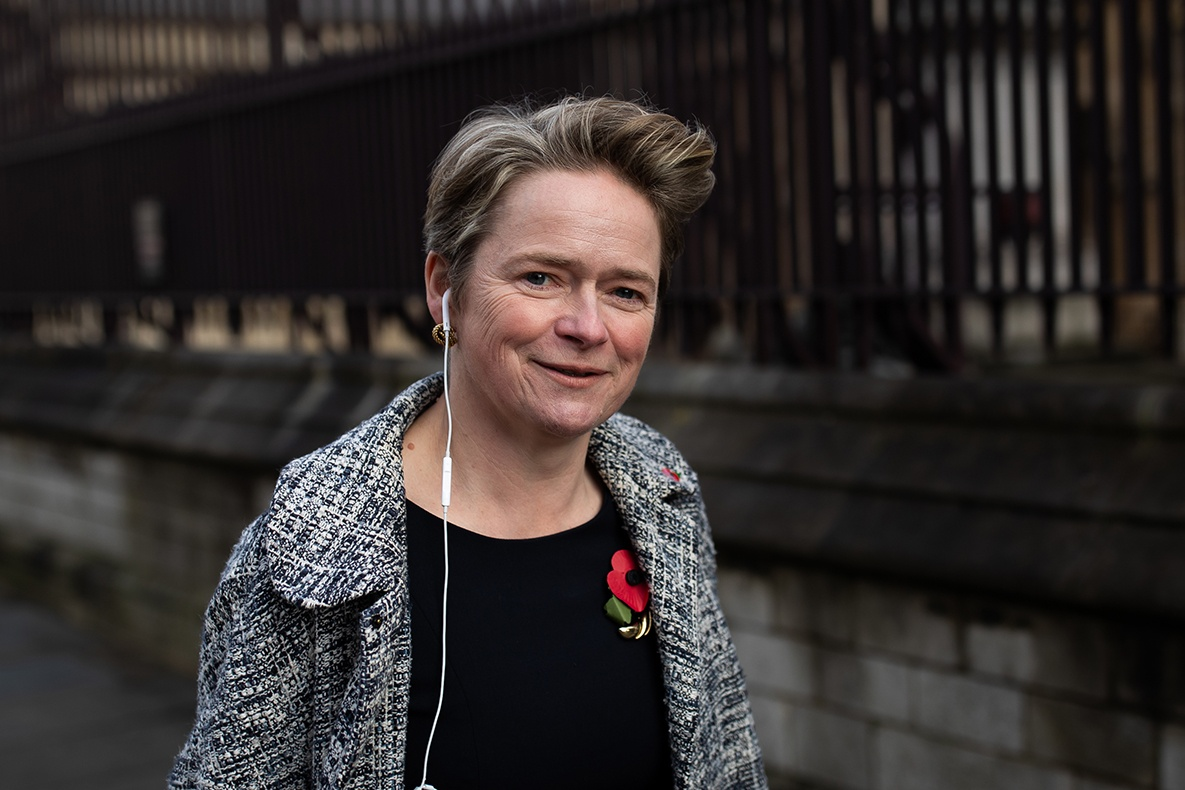 Baroness Dido Harding, executive chair of NHS Test and Trace in November