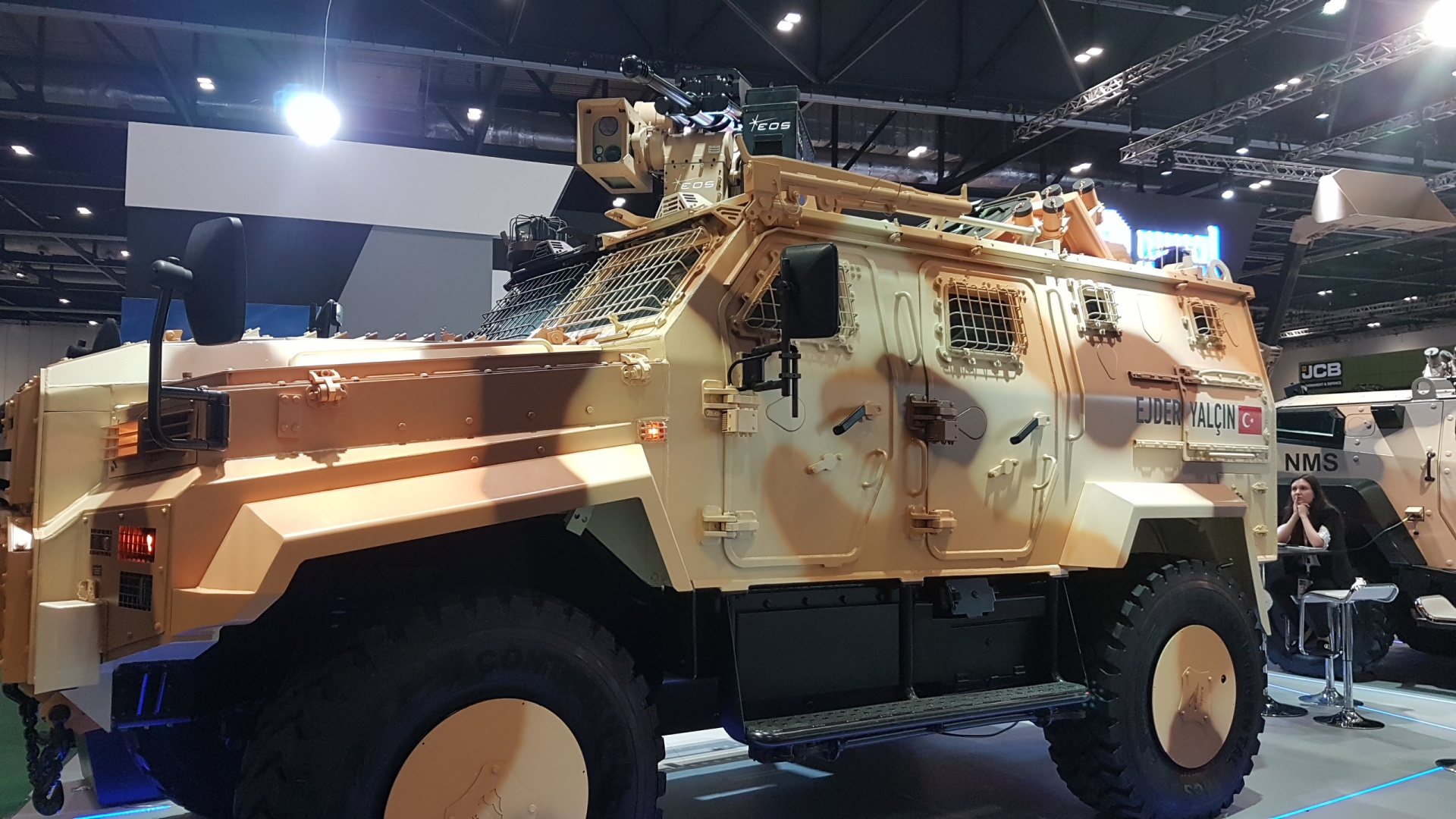 Turkish arms companies such as Nurol Makina had a major presence at DSEI 2019