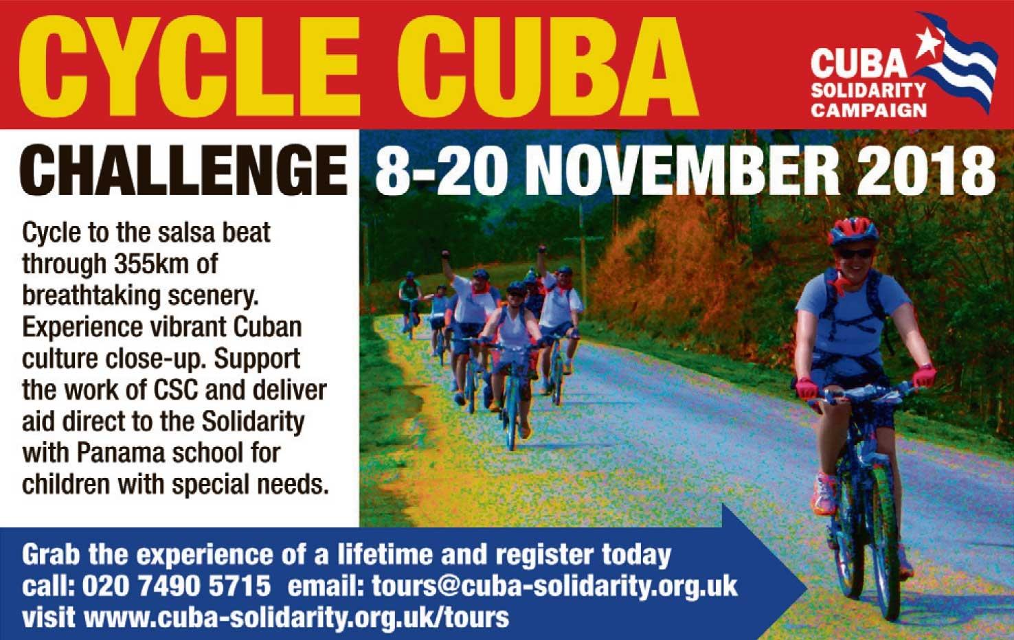 Cuba Cycle Callenge 2018