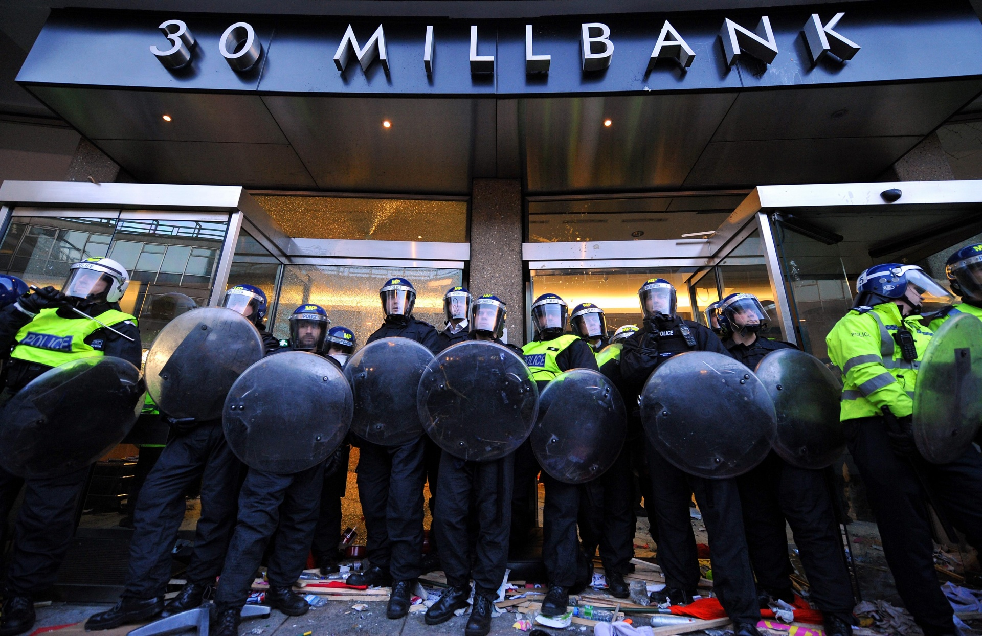 Young people storm Conservative Party headquarters, winter 2010, in protest at cuts to Education Maintenance Allowance and hikes in university fees