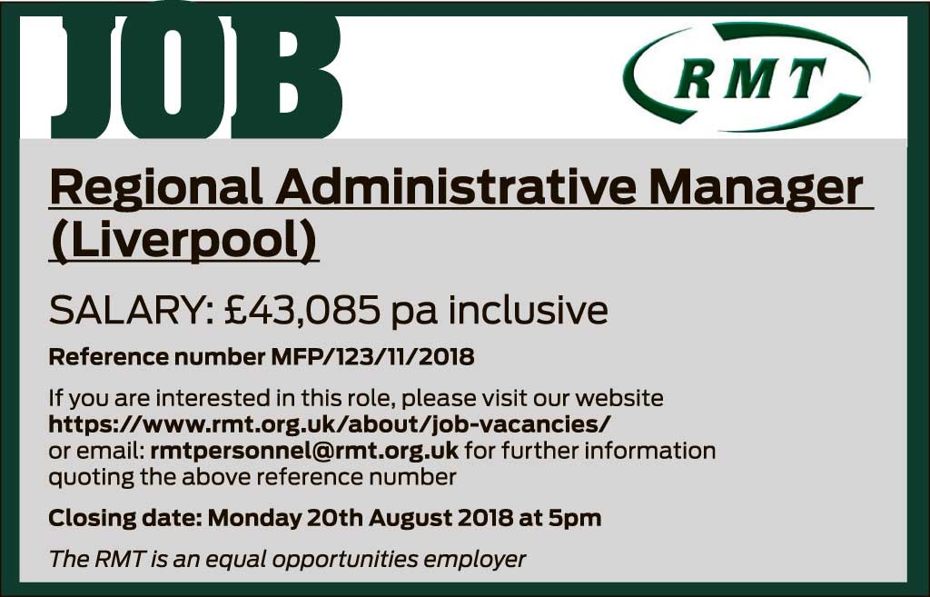 RMT Liverpool job advert
