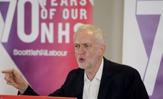 Jeremy Corbyn speaks about the NHS's 70th birthday in Scotland