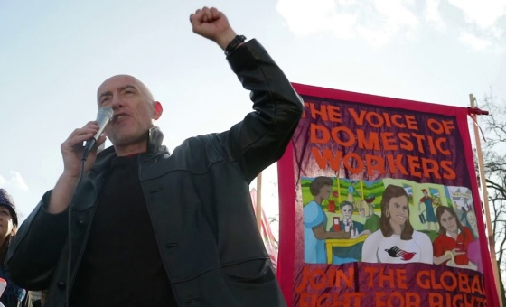 Poetry on the picket line, at 1 Day Without Us.