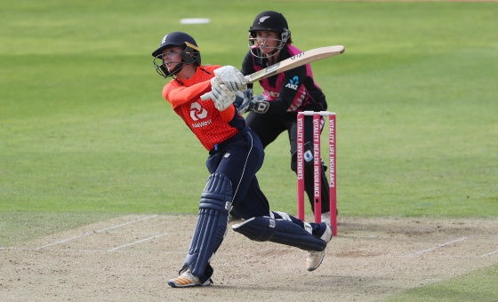 England's Danni Wyatt batting during the T20 Tri Series match at the County Ground