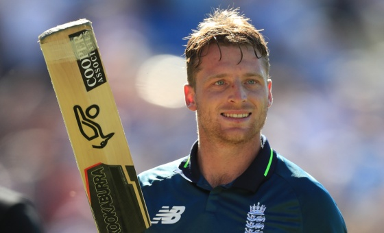 Jos Buttler salutes England fans after winning the ODI against Australia